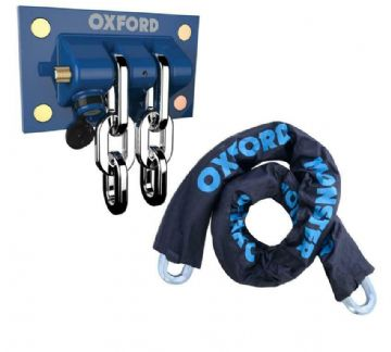 Oxford Motorbike Motorcycle Wall Ground Anchor Docking Station with 1.5m Chain